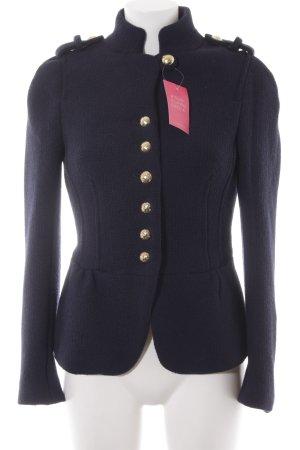 Zara Basic Shirt Jacket dark blue '70s style