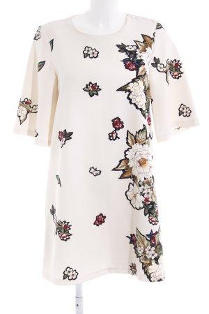 Zara Basic Shirtkleid florales Muster Casual-Look