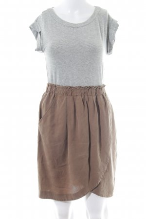 Zara Basic Shirtkleid hellgrau-beige Casual-Look