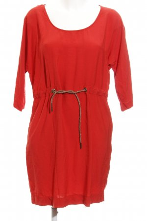 Zara Basic Shirtkleid rot Casual-Look