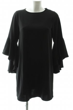Zara Basic Shirtkleid schwarz Business-Look