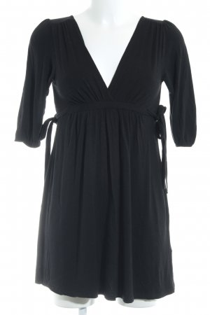 Zara Basic Shirtkleid schwarz Casual-Look