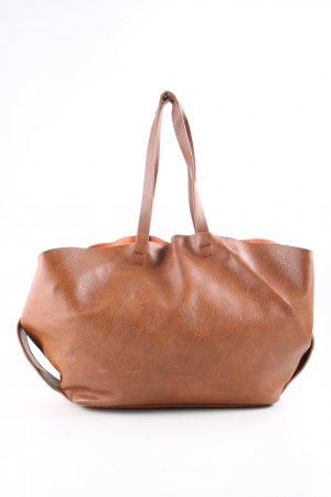 Zara Basic Shopper hellorange Casual-Look