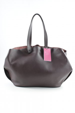 Zara Basic Shopper brown violet casual look