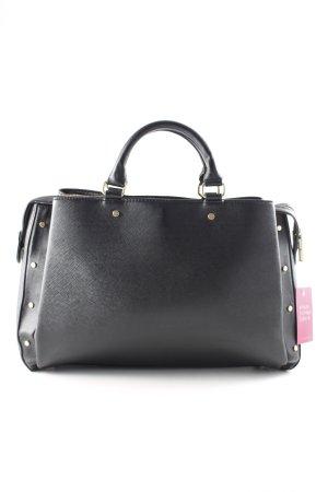 Zara Basic Shopper schwarz schlichter Stil