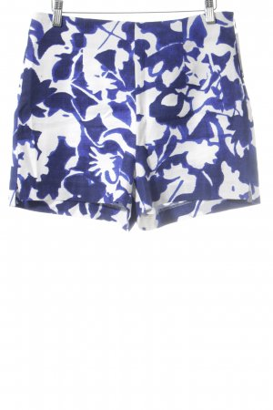 Zara Basic Shorts white-blue floral pattern casual look