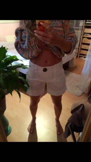 Zara Basic Shorts weiss XS