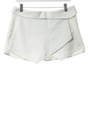 Zara Basic Shorts wollweiß Casual-Look