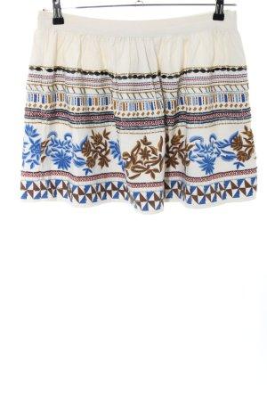 Zara Basic Skater Skirt abstract pattern casual look