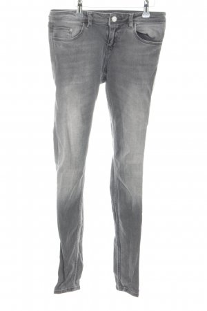 Zara Basic Skinny jeans lichtgrijs casual uitstraling