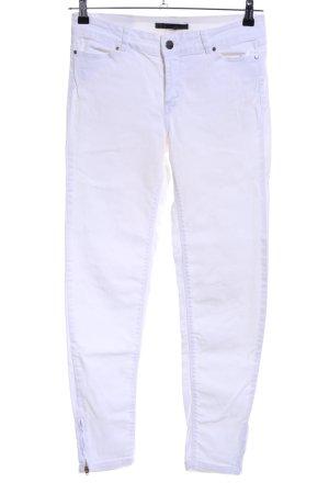 Zara Basic Vaquero skinny blanco look casual