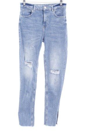 Zara Basic Skinny Jeans blassblau Jeans-Optik