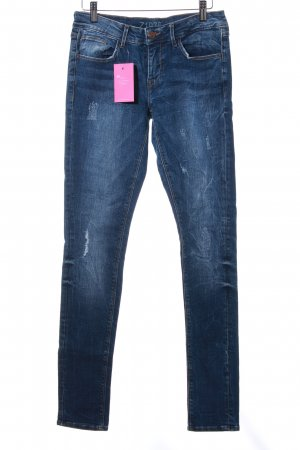 Zara Basic Skinny Jeans blau Jeans-Optik