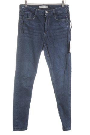Zara Basic Skinny Jeans blau Street-Fashion-Look