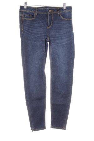 Zara Basic Jeans skinny blu scuro stile casual