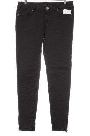Zara Basic Skinny Jeans dunkelbraun Casual-Look