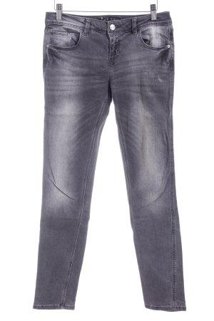 Zara Basic Skinny Jeans dunkelgrau Casual-Look