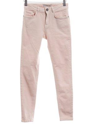 Zara Basic Skinny Jeans creme Jeans-Optik