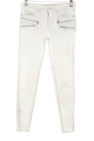 Zara Basic Skinny Jeans graugrün Casual-Look