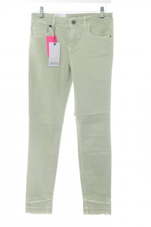 Zara Basic Skinny Jeans grün-braun Casual-Look