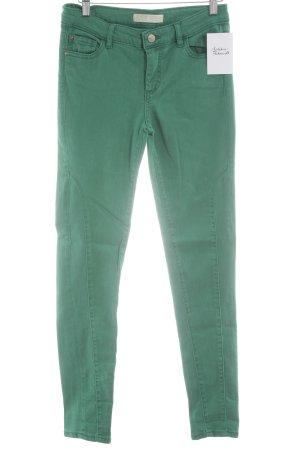 Zara Basic Skinny Jeans grün schlichter Stil