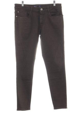 Zara Basic Skinny Jeans grüngrau Casual-Look