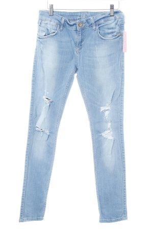 Zara Basic Skinny Jeans hellblau Casual-Look