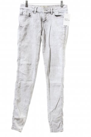 Zara Basic Skinny Jeans hellgrau Washed-Optik