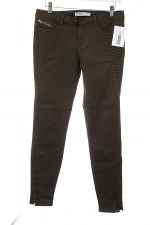 Zara Basic Skinny Jeans khaki Military-Look