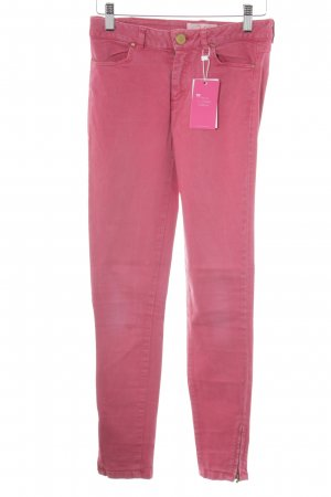 Zara Basic Skinny Jeans magenta Street-Fashion-Look