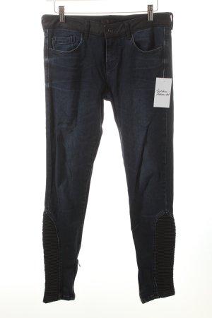 Zara Basic Skinny Jeans mehrfarbig Biker-Look