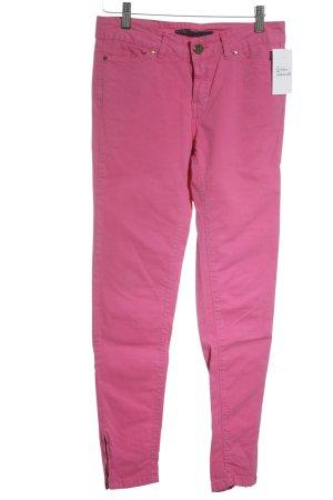 Zara Basic Skinny Jeans pink extravaganter Stil