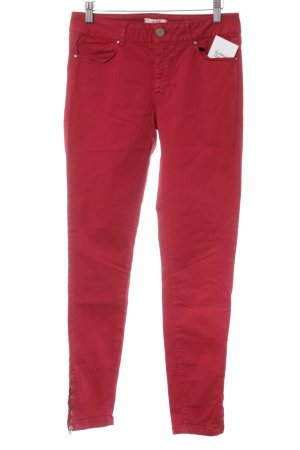 Zara Basic Skinny Jeans red casual look