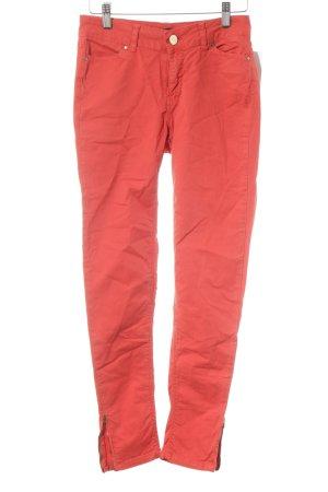 Zara Basic Skinny Jeans rot Street-Fashion-Look