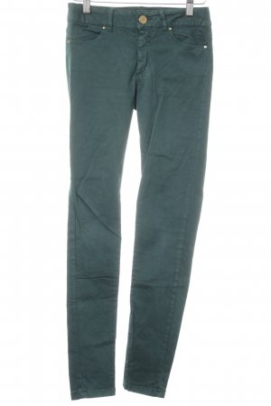 Zara Basic Skinny Jeans forest green casual look