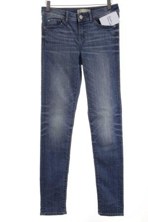 Zara Basic Skinny Jeans weiß-stahlblau Casual-Look