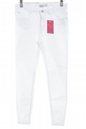 Zara Basic Skinny Jeans wollweiß Casual-Look