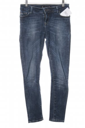 Zara Basic Slim Jeans blau Casual-Look