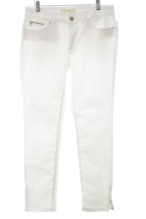 Zara Basic Slim Jeans creme Casual-Look