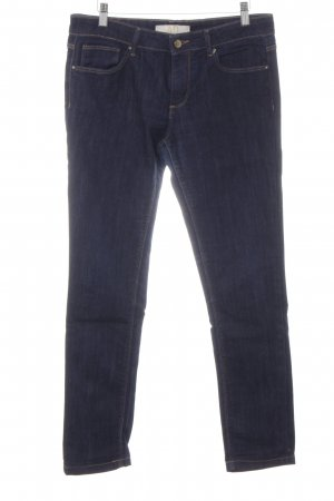 Zara Basic Slim Jeans dunkelblau Casual-Look