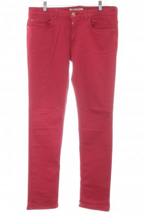 Zara Basic Slim Jeans rot Urban-Look
