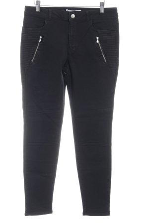 Zara Basic Slim jeans zwart Biker-look