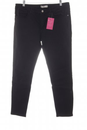 Zara Basic Slim Jeans schwarz Casual-Look