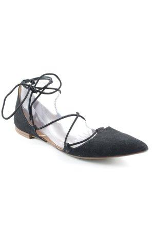 Zara Basic Ballerine à bride arrière noir-brun élégant