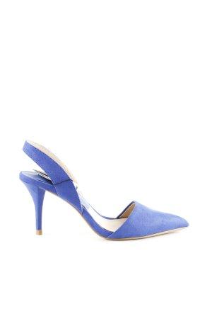 Zara Basic Slingback Pumps blue business style