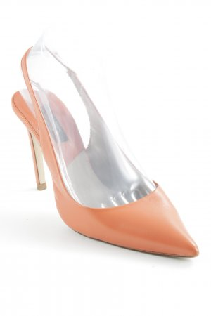 Zara Basic Slingback-Pumps orange Elegant