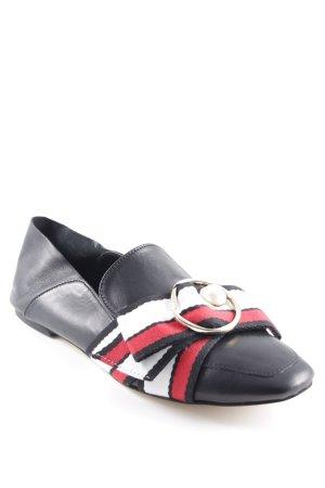 Zara Basic Slipper schwarz Brit-Look