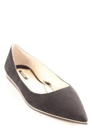 Zara Basic Slipper schwarz Casual-Look