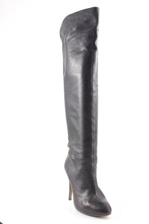 Zara Basic Slouch Stiefeletten schwarz extravaganter Stil