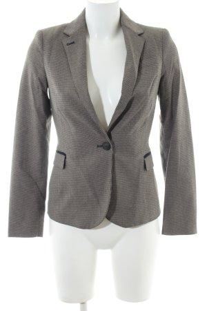 Zara Basic Veste de smoking noir-blanc cassé motif à carreaux